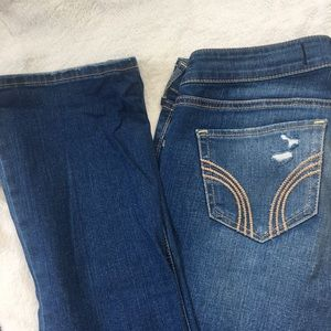 Hollister Distressed Bootcut Jeans LONG